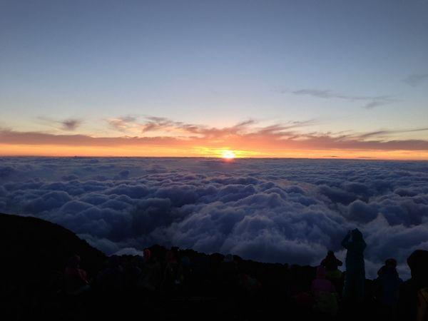 富士登山(富士宮口→山頂→お鉢めぐり→御殿場口)