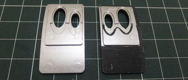 テールパイプエンドプレートの接着面も削る