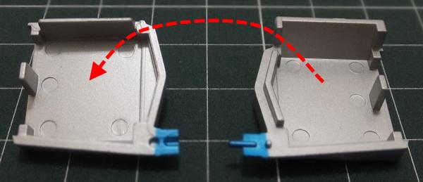 水冷式オイルクーラーの接着面を確認のため仮組み