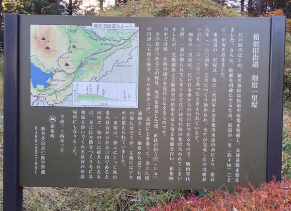 箱根旧街道 畑宿一里塚