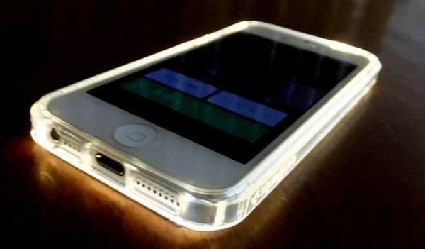 iPhone 5s/5用 SPIGEN SGPウルトラ・ハイブリッド(クリスタル・クリア)光る