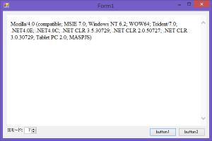 IE7モード(UserAgent)