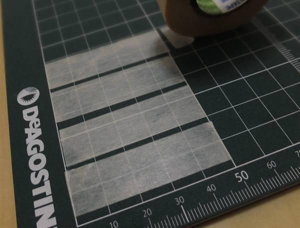 5cmにカットしたマスキングテープを4枚用意