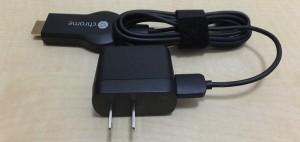 TVにUSB端子が無い場合はアダプタを付け、近くのコンセントから電源供給