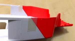側面にもマスキングテープ2枚貼り固定