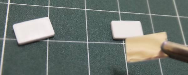 ミラープレートにミラーラベルを貼る