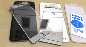 iPhone6 plus 鏡面 アルミ ガラスフイルム ケース