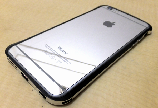 iPhone6 plus 鏡面 アルミ ガラスフイルム ケース (iPhone6 plus, 銀)
