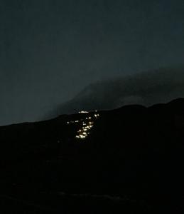 山小屋の明かり