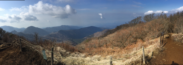 越前岳のパノラマ