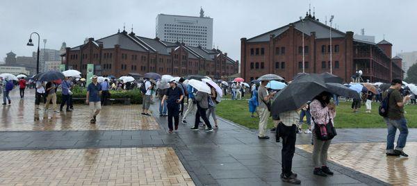 横浜ポケモンGOパーク 雨