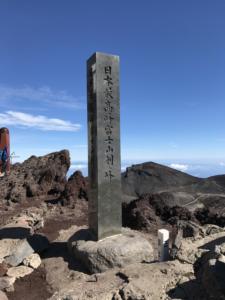 剣ヶ峰山頂(3776m)