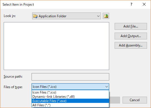 Select Item in Project