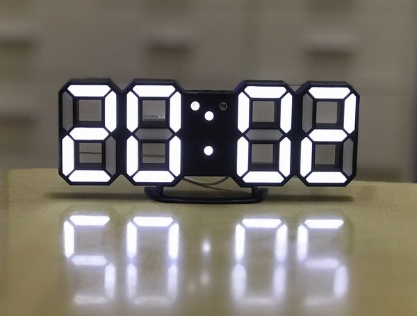 3D LED Digital Alarm Clock Night Light