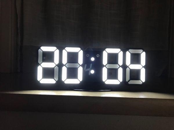 3D LED Digital Alarm Clock Night Light