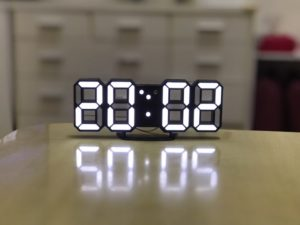 3D LED Digital Alarm Clock Night Light - BLACK 2