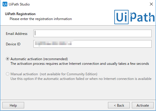 UiPath Registration