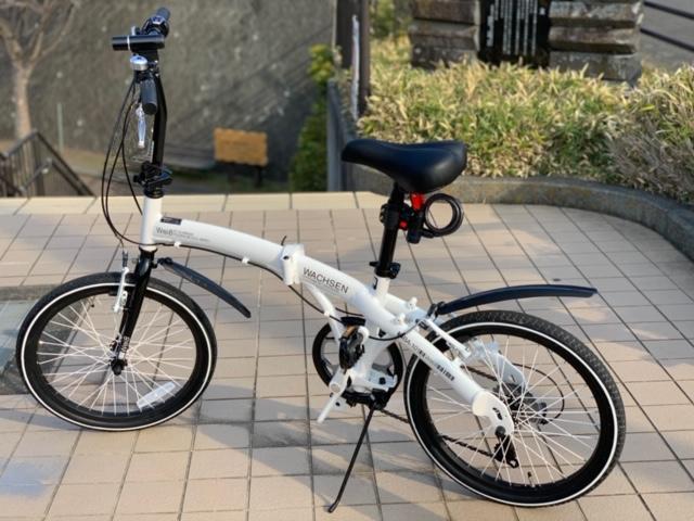 HANWA WACHSEN 20インチアルミ折りたたみ自転車6段変速付 Weiβ(ヴァイス) BA-101 シマノ6段変速